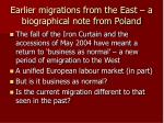earlier migrations from the east a biographical note from poland1