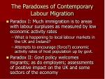 the paradoxes of contemporary labour migration2