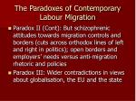 the paradoxes of contemporary labour migration3