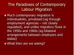 the paradoxes of contemporary labour migration4