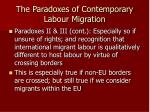 the paradoxes of contemporary labour migration7