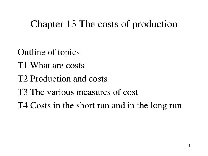 chapter 13 the costs of production n.