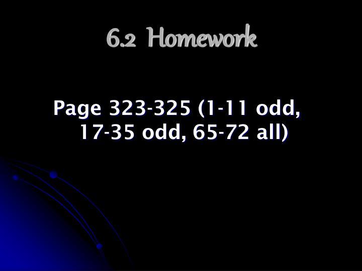 6.2  Homework