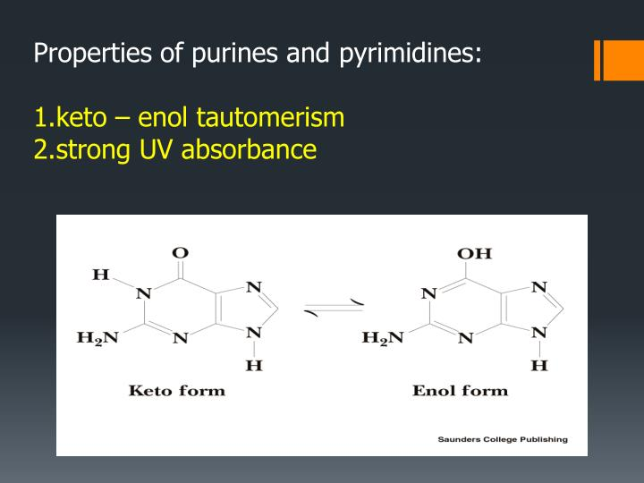 Properties of purines and