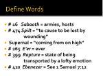 define words