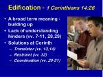 edification 1 corinthians 14 26