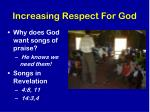 increasing respect for god