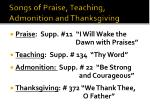 songs of praise teaching admonition and thanksgiving