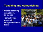 teaching and admonishing