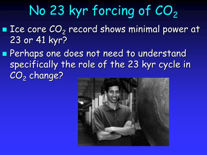 No 23 kyr forcing of CO