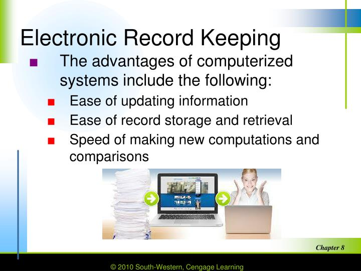 computerized record keeping Good record-keeping is central to the scientific process 1-4 good research records encompass much more that just research data they include but are not limited to planning and protocol descriptions, data manipulations and analysis procedures, personal and group interpretations of the results, and important communications and group decisions among collaborators.