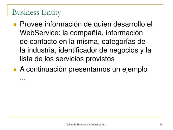 Business Entity