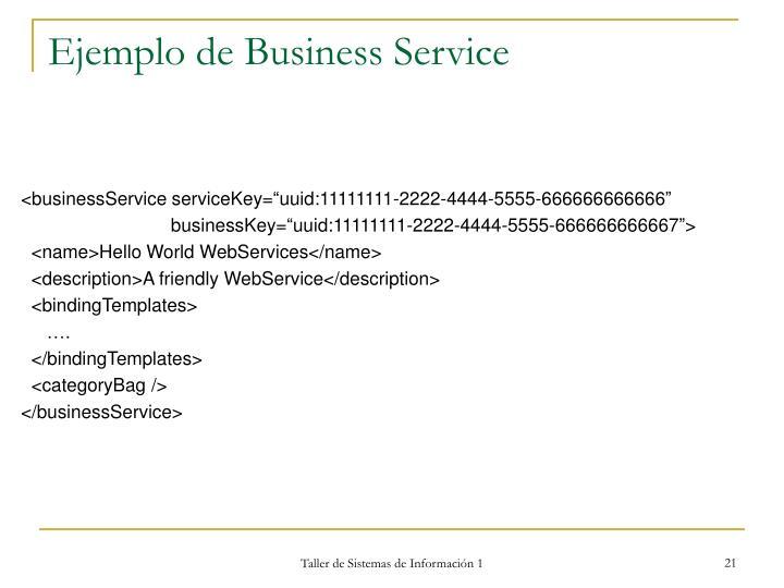 Ejemplo de Business Service