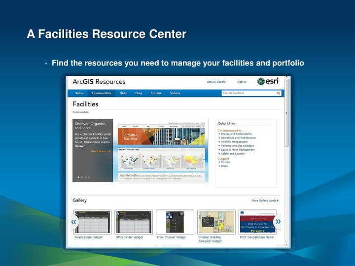 A Facilities Resource Center