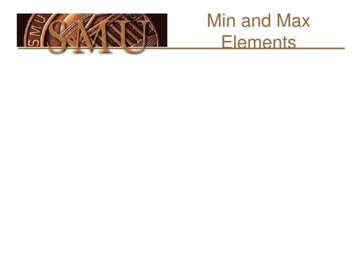 Min and Max Elements