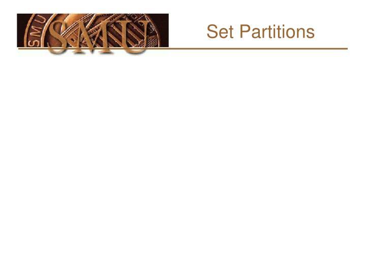 Set partitions