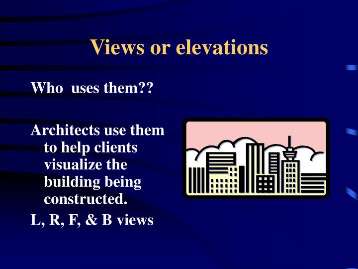 Views or elevations