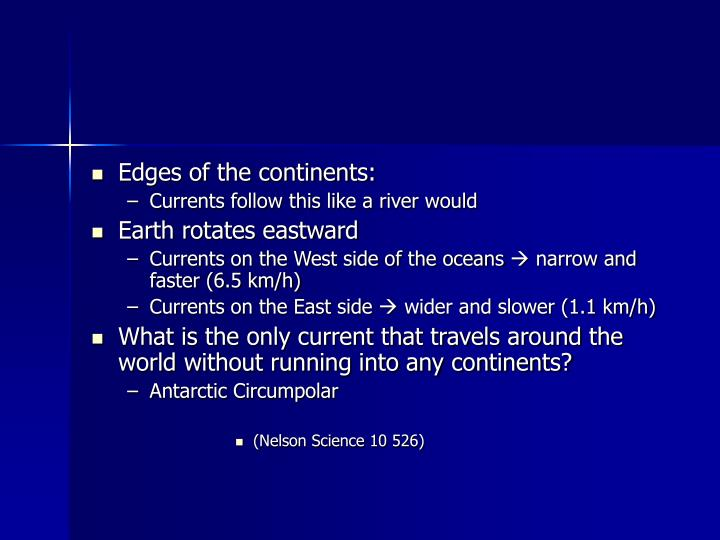 Edges of the continents: