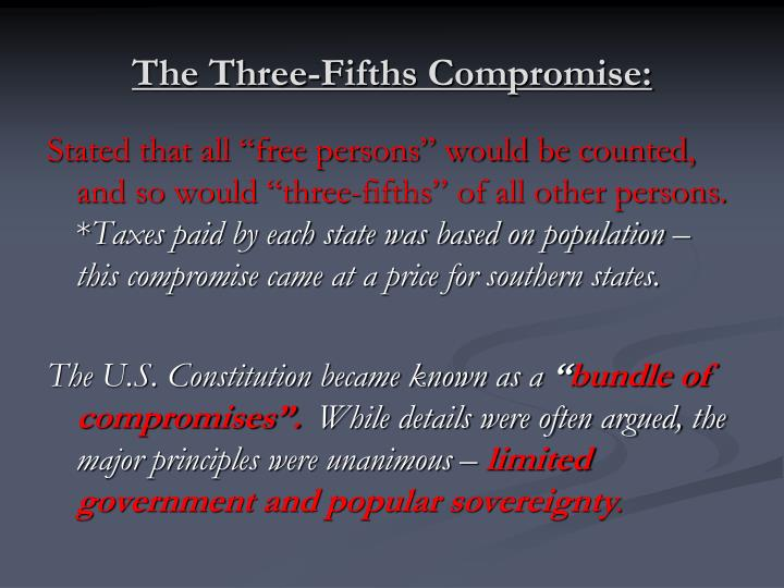 why is the constitution called a bundle of compromises