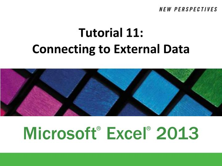tutorial 11 connecting to external data n.