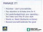 manage it