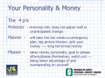 your personality money