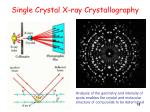 single crystal x ray crystallography