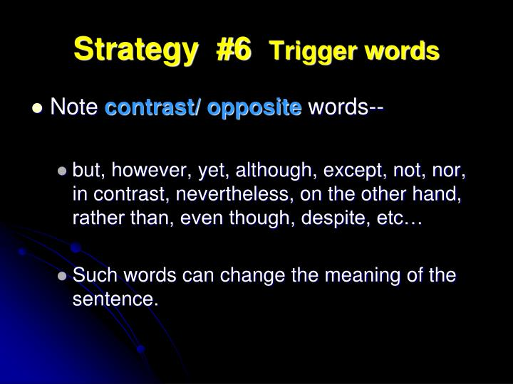 Strategy  #6