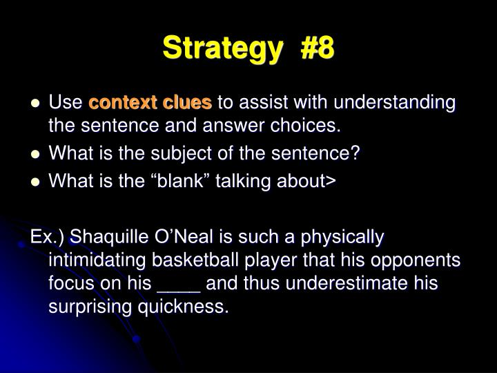 Strategy  #8