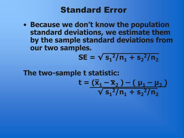 Standard Error