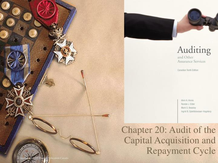 PPT Chapter 20 Audit Of The Capital Acquisition And