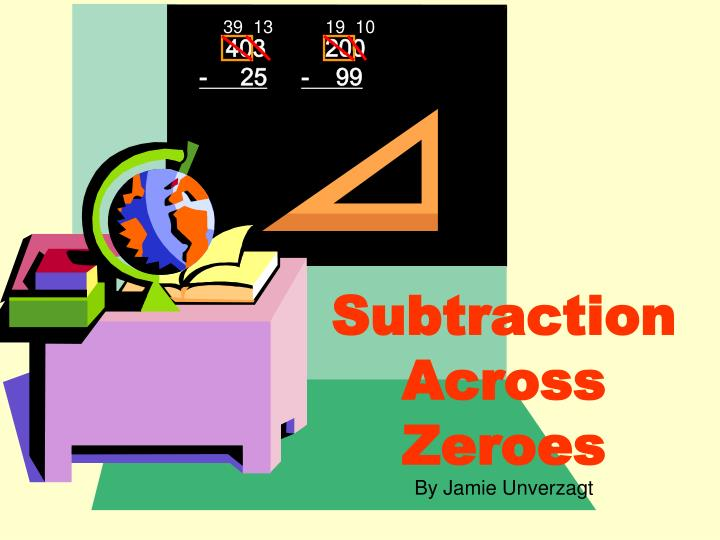 subtraction across zeroes n.