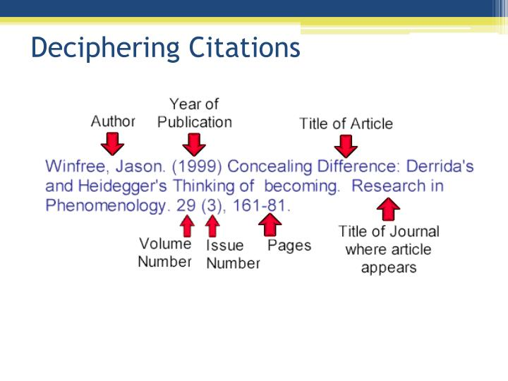 Deciphering Citations