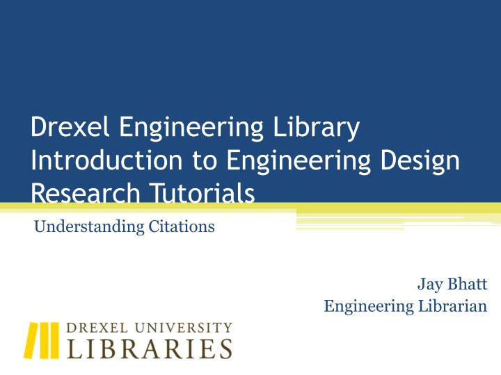 Drexel Engineering Library