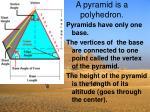 a pyramid is a polyhedron