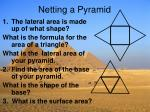 netting a pyramid