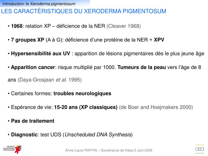 Introduction: le Xeroderma pigmentosum