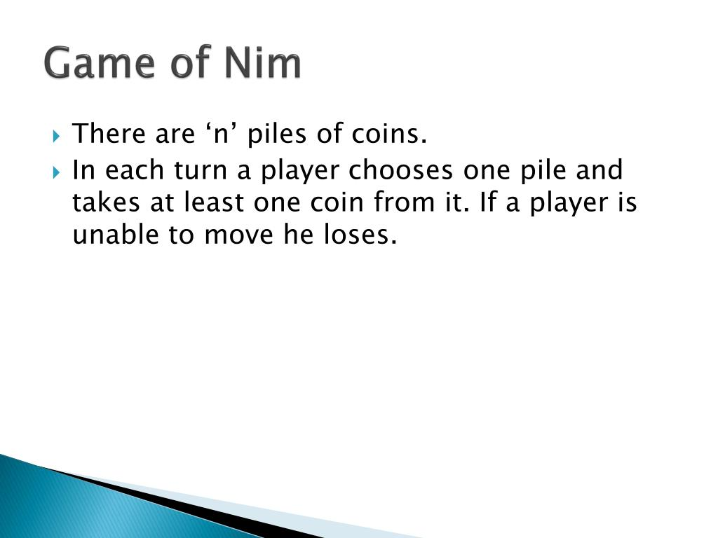PPT - Game theory Impartial Games PowerPoint Presentation