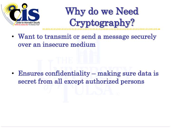 Why do we need cryptography
