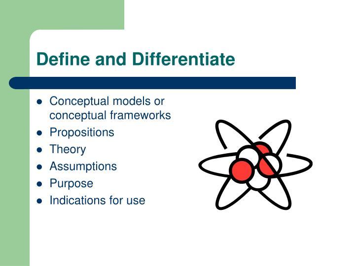 Define and Differentiate