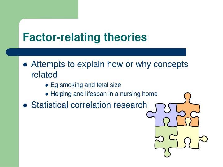 Factor-relating theories