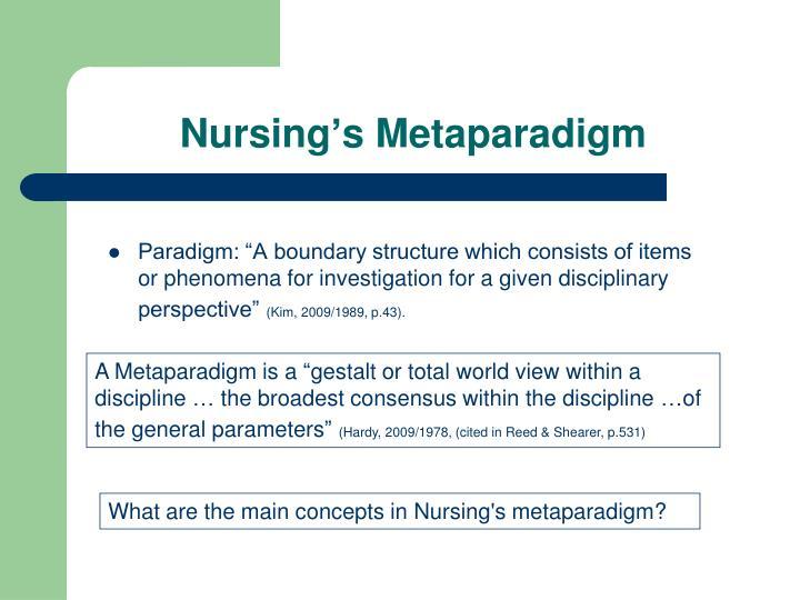 Nursing's Metaparadigm