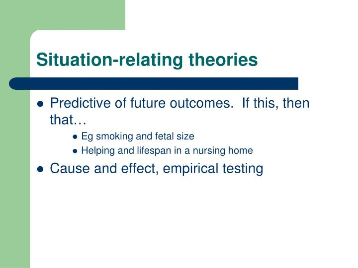 Situation-relating theories