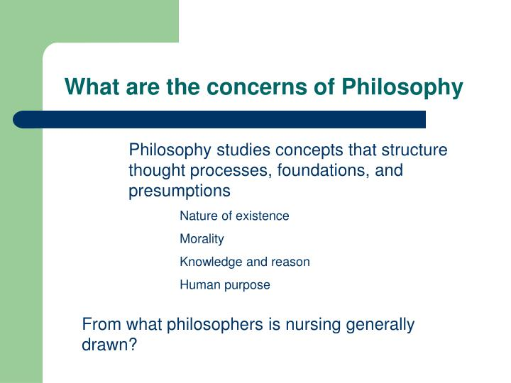What are the concerns of Philosophy