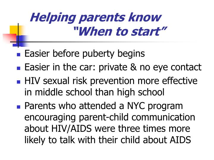Helping parents know