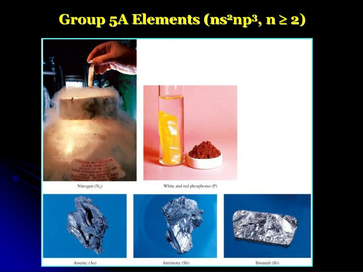 Group 5A Elements (ns