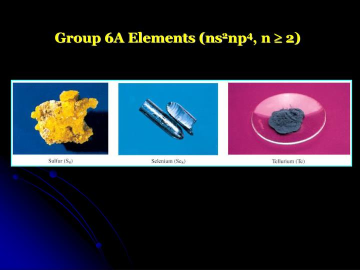 Group 6A Elements (ns