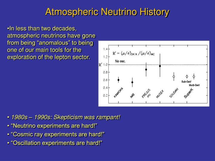 Atmospheric Neutrino History