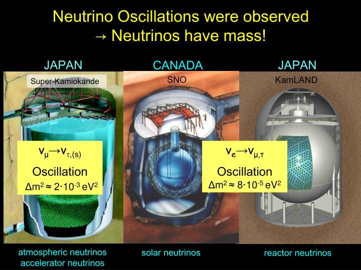 Neutrino Oscillations were observed
