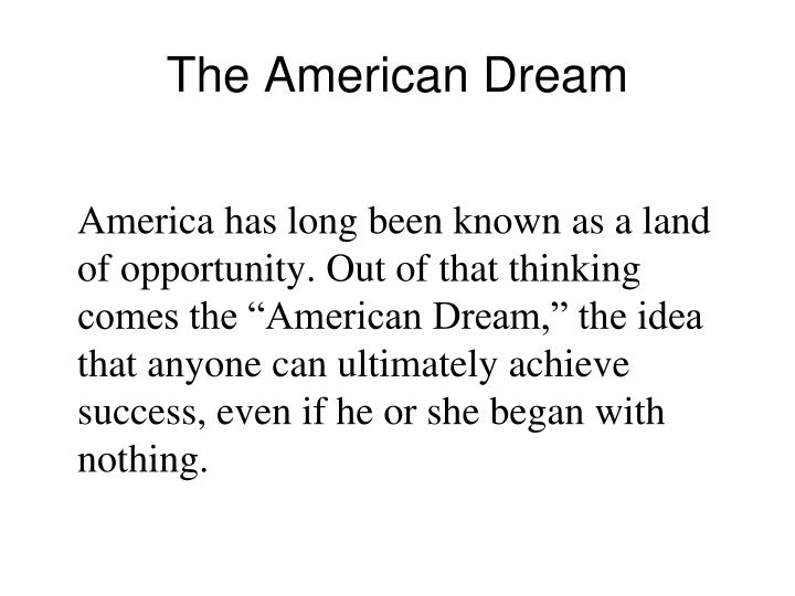 the american dream n.